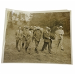 Early 1930s Augusta National Golf Club Type 1 Original Photo of Bobby Jones & Others Surveying Grounds