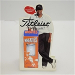 Tiger Woods Titleist Wheaties Combination Advertising Piece with Sleeve of Signature Golf Balls