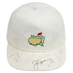 Jack Nicklaus, Payne Stewart, & others Signed 1989 Masters White Hat JSA ALOA