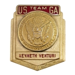 Ken Venturis USGA Past Walker Cup Team Credentials Badge - Kenneth Venturi