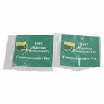 Ken Venturis Personal 1997 Masters Tournament Commemorative Pins - Unopened