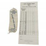 1936 Santa Catalina Island Open Contestant Ribbon with Scorecard  - Rod Munday Collection