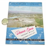 1947 Denver Open at Cherry Hills Program & Contestant Badge  - Rod Munday Collection