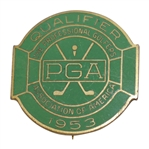 1953 PGA Championship at Birmingham CC Contestant Badge - Rod Munday Collection
