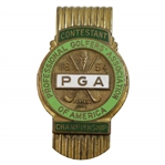 1954 PGA Championship at Keller GC Contestant Badge - Rod Munday Collection