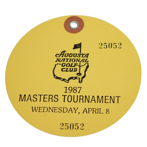 1987 Masters Tournament Wednesday Ticket #25052 - Ben Crenshaw Par 3 Winner