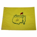 Patrick Reed Signed Undated Masters Embroidered Flag JSA ALOA