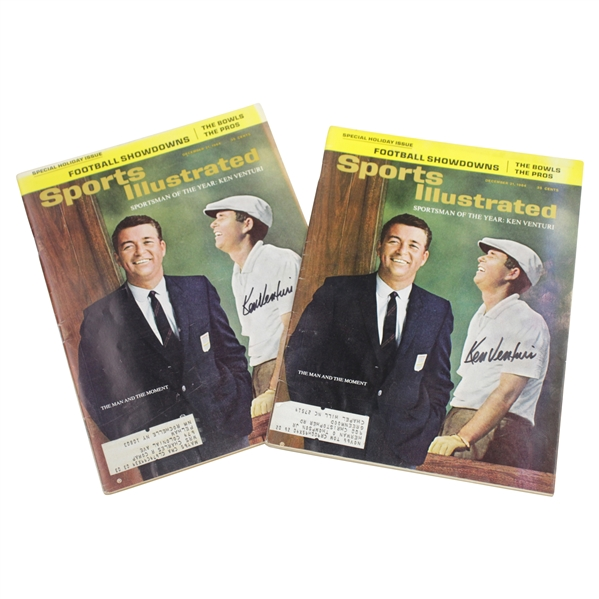Ken Venturi's Personal Signed Two Sports Illustrated Sportsman of the Year Magazines Dec 1964 JSA ALOA