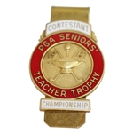 1967 PGA Seniors Teacher Trophy Contestant Badge/Clip - Rod Munday Collection