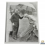 Sam Snead Holding Umbrella for President Dwight D. Eisenhower United Press Association Photo