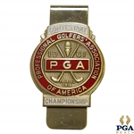 1961 PGA Championship at Olympia Fields CC Contestant Badge - Jerry Barber Winner