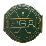 1934 PGA Championship at Park CC Contestant Badge - Paul Runyan Winner - Rare