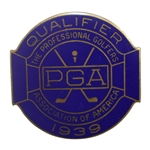 1939 PGA Championship at Pomonok CC Contestant Badge - Henry Picard Winner