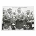 Olin Dutra 1934 AP Wire Photo of US Open Trophy Presentation with USGA President Jacques