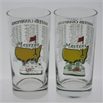 1997 & 2005 Masters Tournament Commemorative Champions Glasses