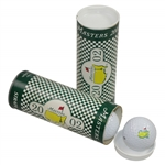 Two 2002 Masters Tournament Tube Sleeves of Strata Masters Logo Golf Balls