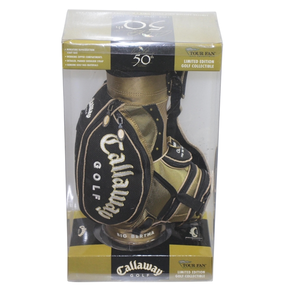 Arnold Palmer's 50th Masters Appearance Lt Ed Commemorative Callaway Mini Golf Bag - April 2004
