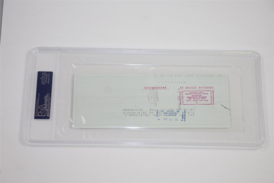 Samuel J. Snead Signed 12/9/1985 Personal Check PSA/DNA GEM MT10 #93511545