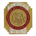 1948 US Amateur Championship at Memphis CC Contestant Badge - Willie Turnesa Winner