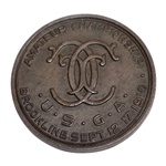1910 US Amateur Championship at Brookline Contestant Badge - William C. Fownes Winner - Seldom Seen