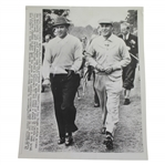 Ben Hogan & Sam Snead Team up for Canada Cup at Wentworth UPI Wire Photo