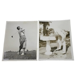 1933 US Open at North Shore GC Wire Photos - Olin Dutra & Frank Walsh - June 7th & 10th