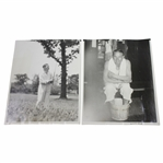 1933 US Open at North Shore GC Wire Photos - Leo Diegel & Joe Kirkwood - June 8th & 10th
