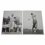 1933 US Open at North Shore GC Wire Photos - Leo Diegel & Frank Walsh - June 7th & 8th