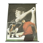 Tiger Woods Rollout Nike Cloth Collage Banner with Swing Finish, Concentration, & Victory