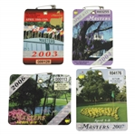2003, 2004, 2006, & 2007 Masters Tournament Series Badges