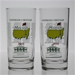 Pair of 2016 Masters Champions Commemorative Highball Glasses