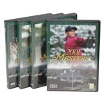 2001, 2002, 2003, & 2004 Official Masters Tournament Highlights DVDs in Cases