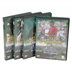 2005, 2006, 2007, &2008 Official Masters Tournament Highlights DVDs in Cases