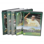 2009, 2010, 2011, 2012, & 2013 Official Masters Tournament Highlights DVDs in Cases