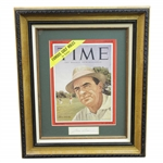 Sam Snead Signed Cut with June 21, 1954 TIME Magazine Display JSA ALOA
