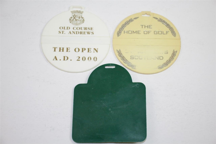 Three St Andrews Old Course Bag Tags - 1995, 2000, & Undated