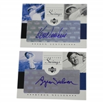 Ken Venturi & Byron Nelson Signed Upper Deck Signature Swings Golf Cards