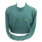 Masters 1934 Large Augusta Green Long Sleeve Half-Zip Sweater - Unused