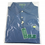 Masters Peter Millar Edition XL Blue with White Dot Short Sleeve Golf Shirt - Unused