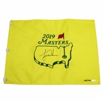 Tiger Woods Signed 2019 Masters Embroidered Flag Limited Ed UDA Flag #BAM154611