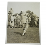 C.J.H. Tolley Driving at Stoke Poges Golf Match The Times Photo - Victor Forbin Collection