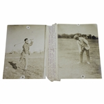 One Armed Golfers Haskins & Dickinson Contest PJ Press Bureau Photo - Victor Forbin Collection
