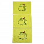 2001, 2002, & 2005 Masters Tournament Embroidered Flags - Tiger Wins!