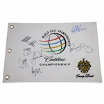 Tiger Woods, Rory McIlroy, & others Signed WGC at Trump Doral Flag FULL JSA #BB28142