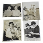 Four (4) Different 1930s Patty Berg Wire Photos