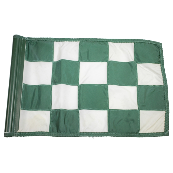 Cypress Point Course Flown Green & White Checkered Flag