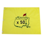 Fifty UNDATED Masters Tournament Official Embroidered Flags (50)