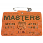 1971 Masters Tournament Series Badge #1646