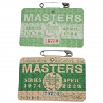 1974 & 1978 Masters Tournament Series Badges #29726 & #14730 - Gary Player Winner