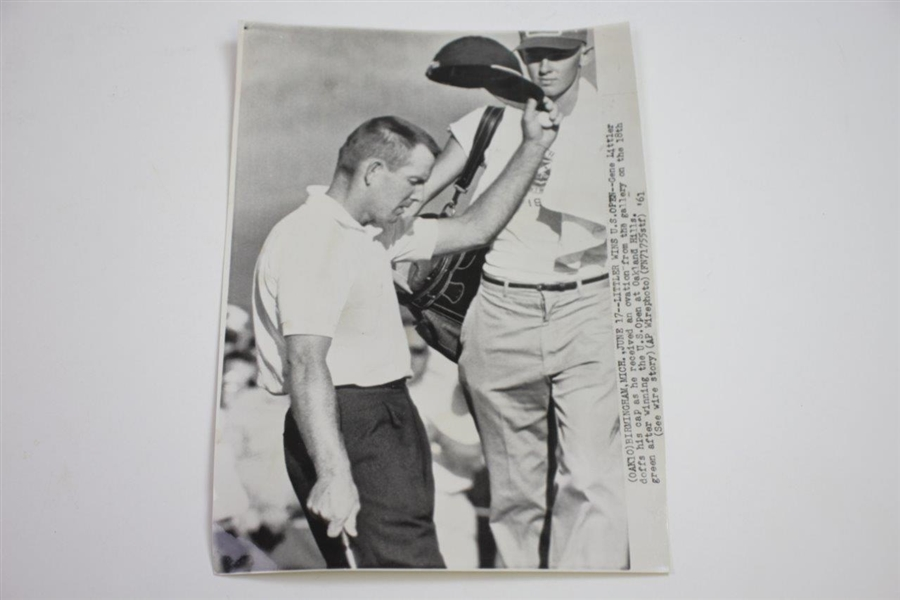Three 1961 Gene Littler Wire Photos from US Open Win